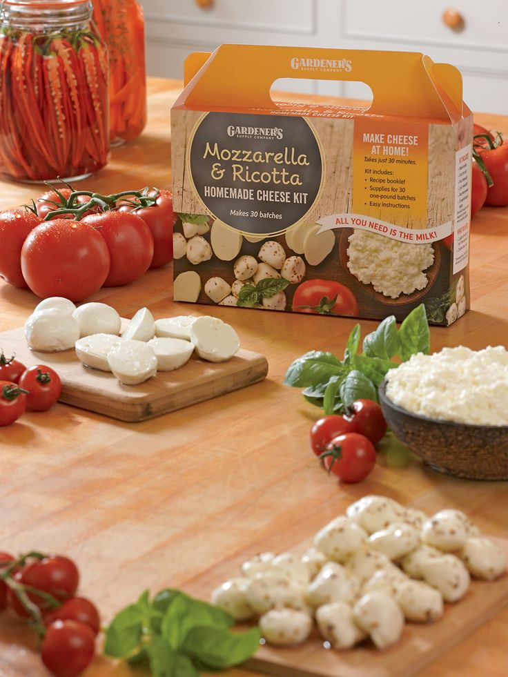 Mozzarella and Ricotta Homemade Cheese Kit | Gardener's Supply