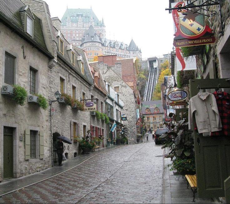 Rue Sous le Fort Quebec HD Wallpaper