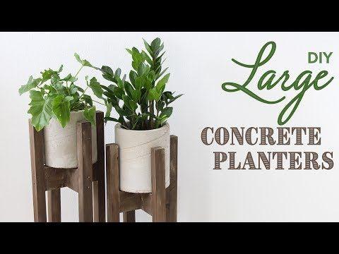 DIY Large Concrete Planters | Maceteros de Concreto - Avanti Morocha