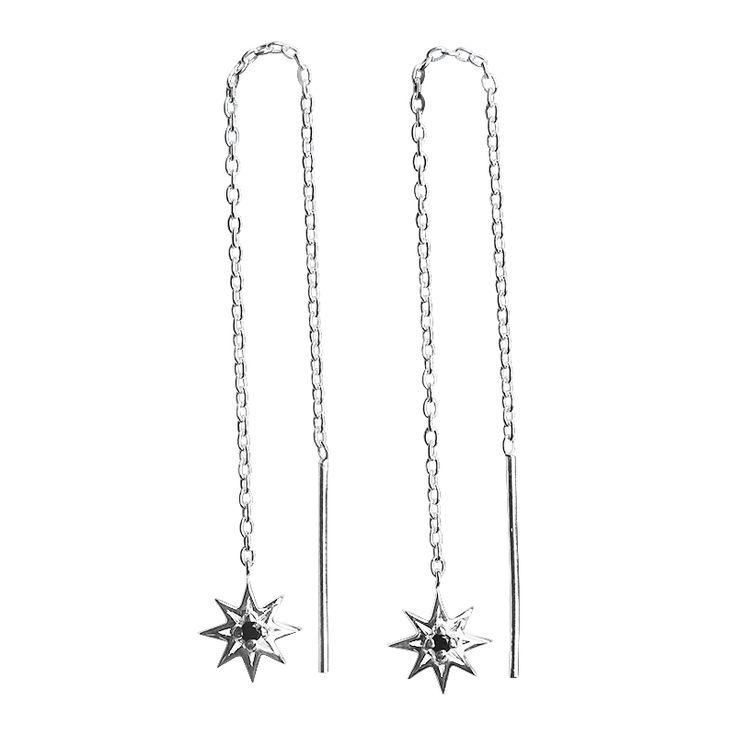 Murkani - Falling Star Earrings Sterling Silver