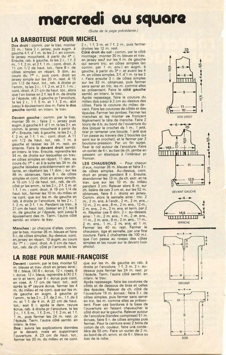 PAR AMOUR DES POUPEES :: M&T 1979-05 Mercredi au square (tricot)