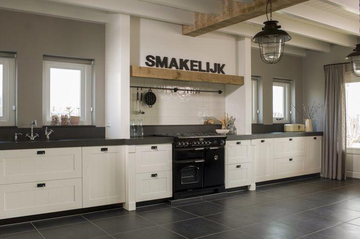 Zwart Witte Keuken : Witte keuken zwarte vloer Home-kitchen Pinterest