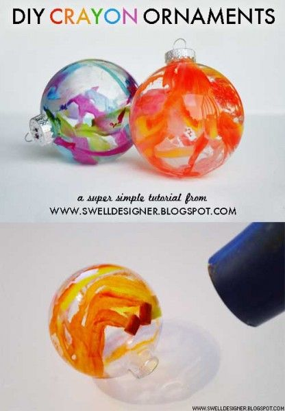 DIY Melted Crayon Ornaments - Lovebugs and Postcards