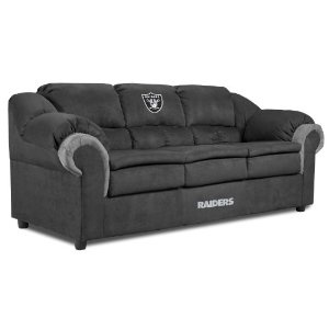 NFL Oakland Raiders Pub Sofa...only I would like it in bears or chiefs