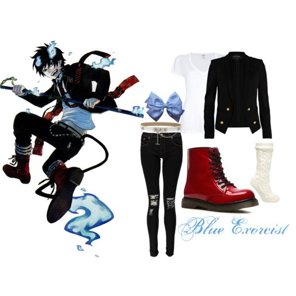 blue exorcist merchandise   fashion look from November 2013 featuring Splendid t-shirts, River ...