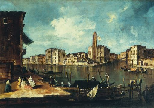 Venice, The Grand Canal with San Geremia, Palazzo Labia, and the Entrance to the Cannaregio - Francesco Guardi — Google Arts & Culture
