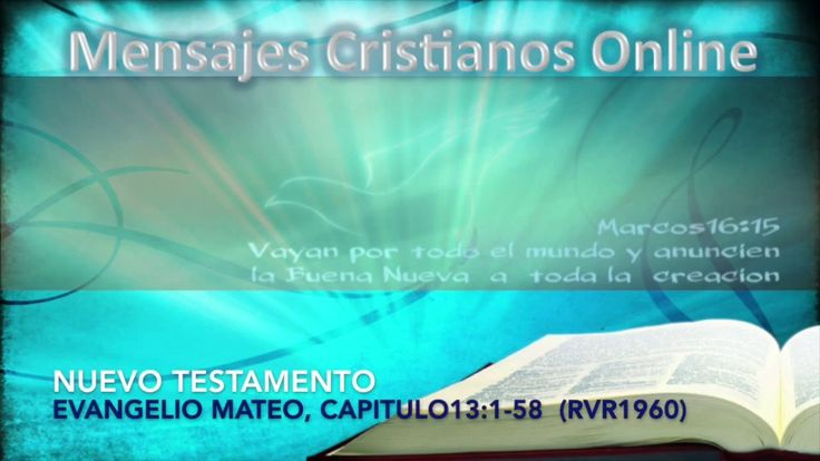 17) Nuevo Testamento -  Mateo13:1-58 - La biblia hablada - estudios bibl...
