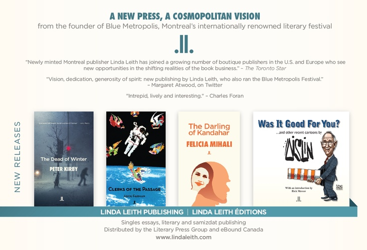 LLP ad for new literary titles. September 17th in Publishers Weekly.