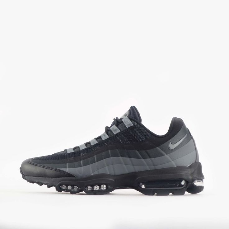 wholesale dealer d888e 3c4d7 ... Details about Nike Air Max 95 Ultra Essential Mens Shoes Black Cool  Grey ...