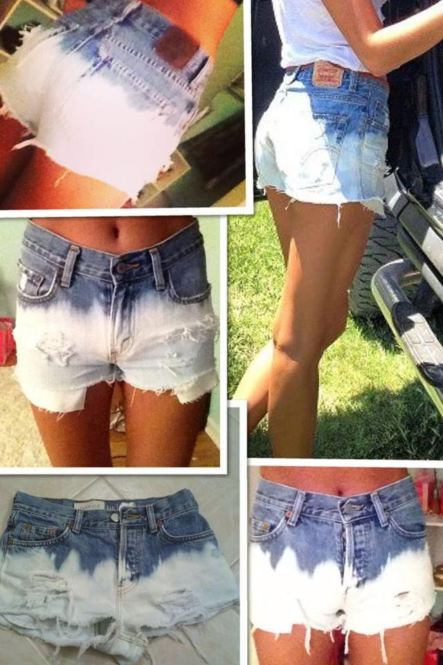 High waisted shorts. DIY.
