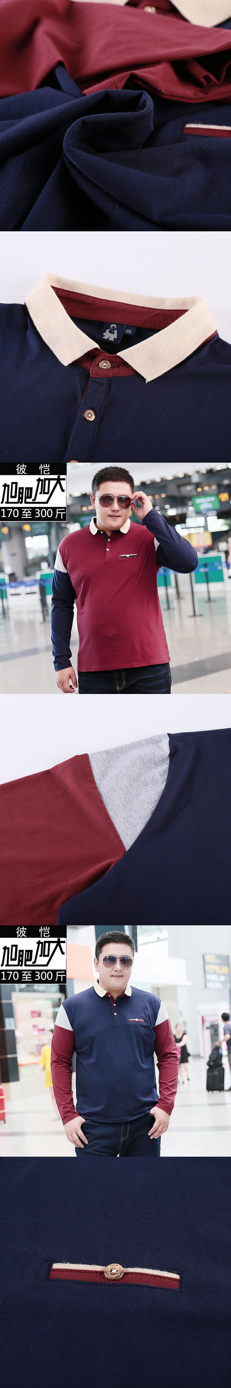 10XL 8XL 6XL Polo Men Cotton Anti-Wrinkle 2017 New Brand Mens Designer Polos Hombre Casual Long Sleeve Solid Polo Shirts Homme