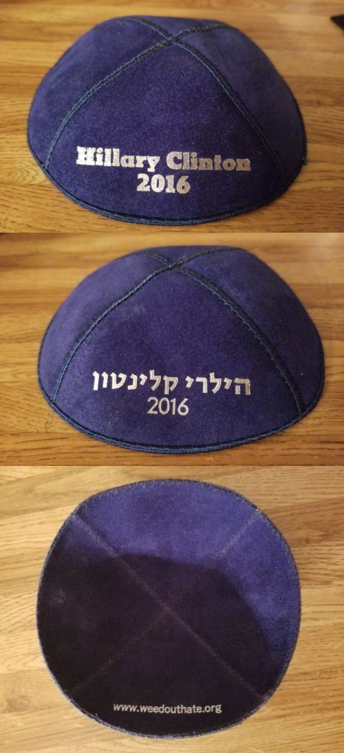 Hillary Clinton: New! Hillary Clinton 2016 Presidential Campaign Jewish Kippah Election Democrat -> BUY IT NOW ONLY: $11.99 on eBay!