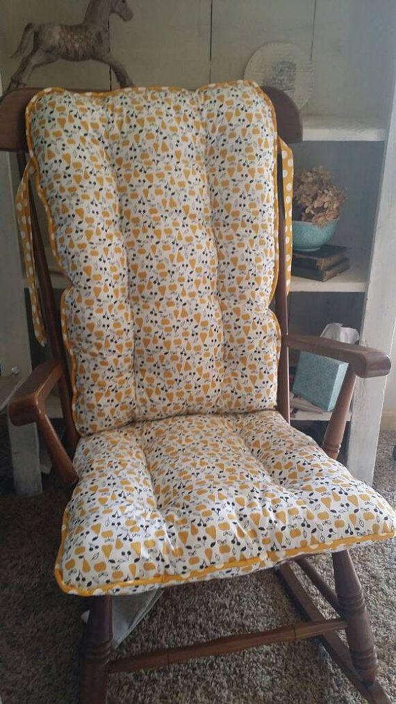 custom organic sweet autumn day rocking chair cushions glider replacement pads rocker cushions - Chair Pads