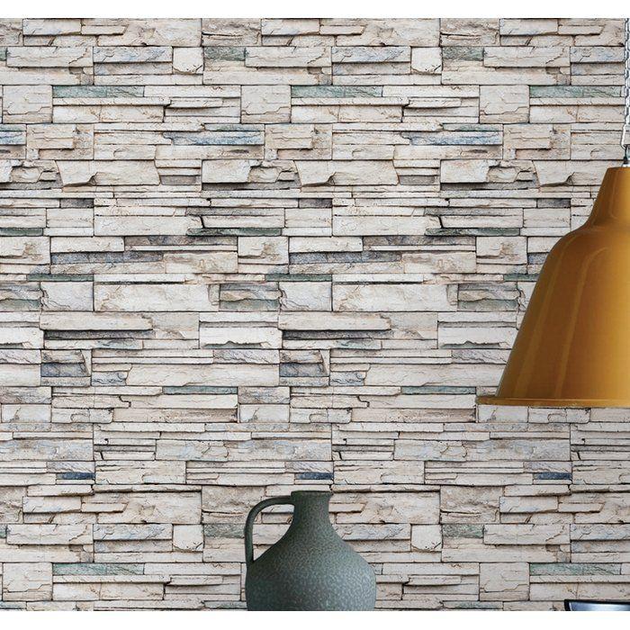 Lepe Faux Stone Peel and Stick Wallpaper Panel Stone