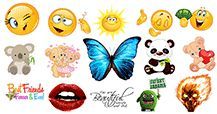 Find more big Facebook emoticons. Remember they're free. Just send them to Facebook and enjoy the fun!