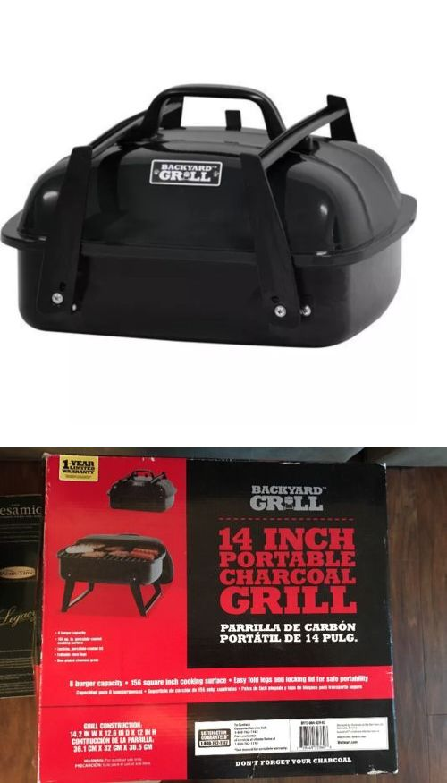 Other Outdoor Cooking and Eating 159926: Backyard Grill 14In Portable Charcoal Grill -> BUY IT NOW ONLY: $37.8 on eBay!
