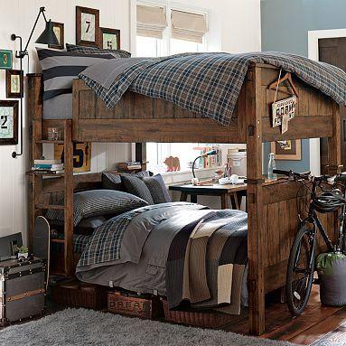 Full on full bunk beds for boys room.