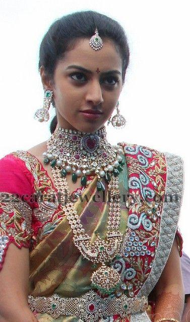 Jewellery Designs: Balakrishna Daughter Tejaswini Wedding