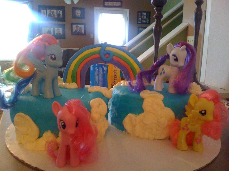 Pin By E Fish On My Little Pony Party Ideas See More Ponies Birthday Cake