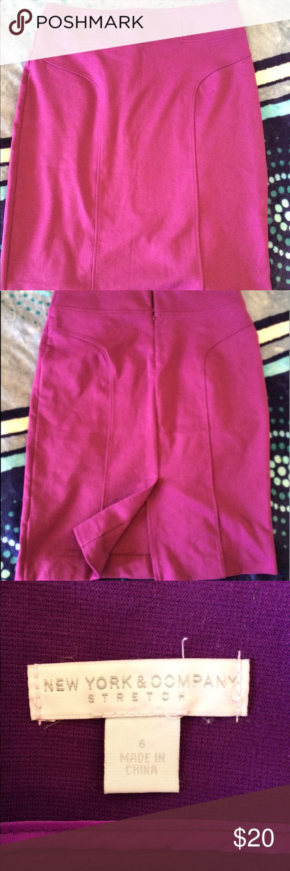 Purple Stretch Skirt Purple Stretch Skirt New York & Company Skirts High Low