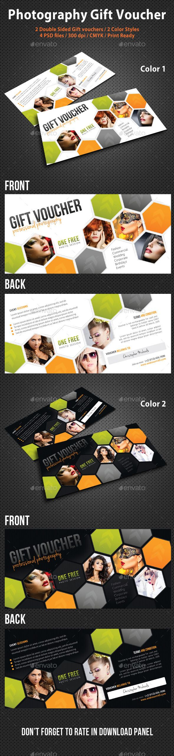 23 best gift certificate images on pinterest graphics draw and photography studio gift voucher xflitez Images