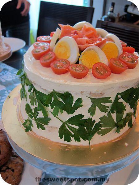 Savory Swedish sandwich cake
