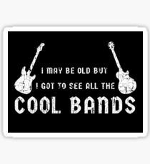 I May Be Old Cool Bands Guitar Funny Design by Yellow  Joe