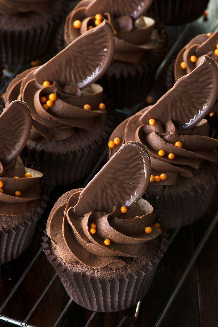 Chocolate Orange Cupcakes with Chocolate Orange Buttercream