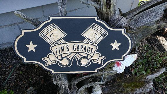 Personalized Garage sign workshop sign fathers day gift
