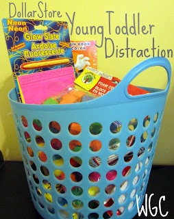 Young Toddler Distraction- from the Dollar Store | Wayward Girls' Crafts