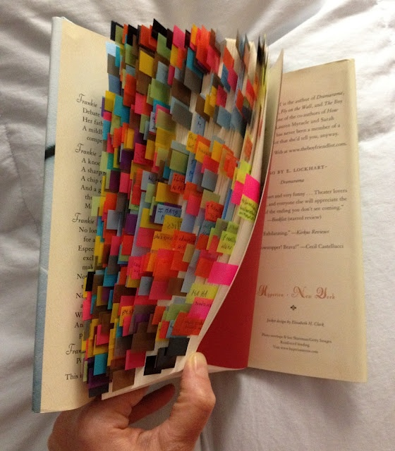 Wow. I am flabbergasted. Kristen Cashore's color coded copy of The Disreputable History of Frankie Landau-Banks.: Inspiration, Flags, Hands, Cashor Colors, Posts, Cashore Colors, Colors Codes