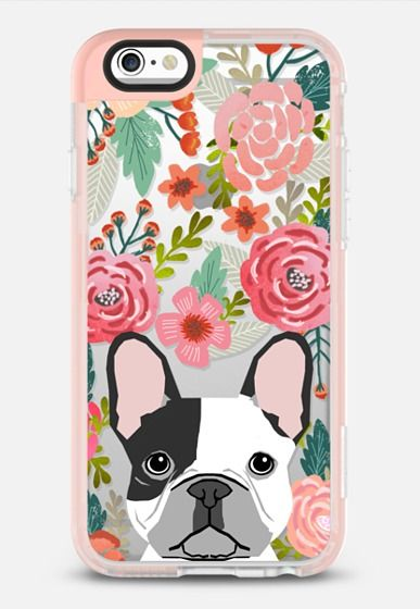 French Bulldog black and white cute bulldog frenchie puppy cell phone transparent iphone6 gold trendy dog person gifts iPhone 6s case by Pet Friendly   Casetify