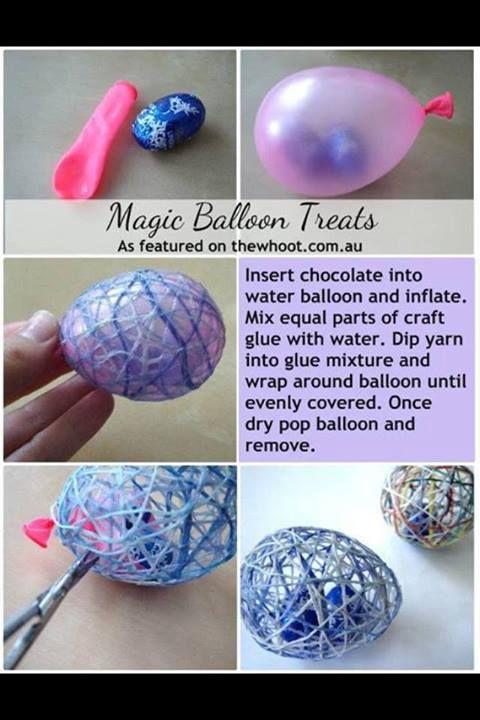 MAgic BalloonTreats!... Such a clever idea! #DIYGifts #easter #easterEggs