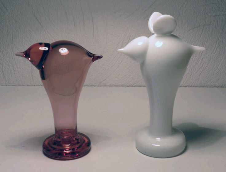 Iittala OIVA TOIKKA Art Glass Birds  Ursula and Valdemar New