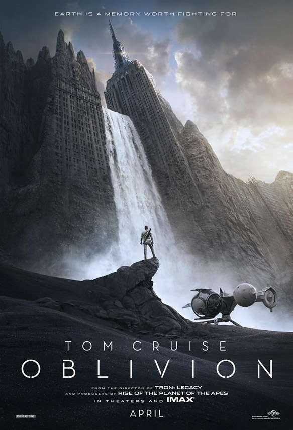 Oblivion - A future New York in the poster for the sci-fi movie with Tom Cruise