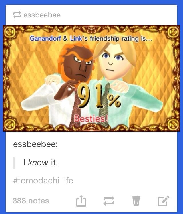 Despite how much they fight over the Triforce, They are still the bestest of besties