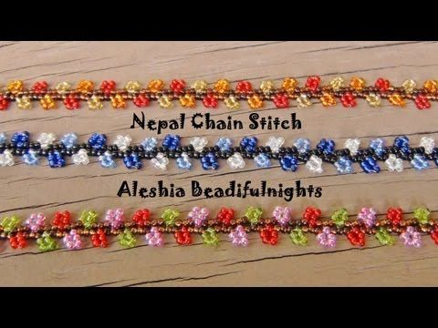 Nepal Chain Stitch Beaded Bracelet and Anklet Tutorial - YouTube