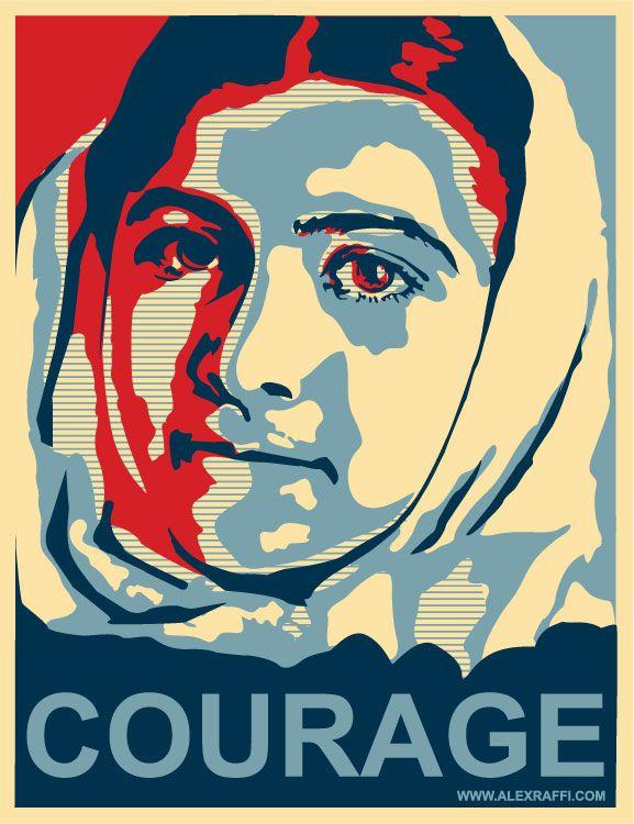 "Malala Yousafzai:  ""All I want is education.  And I'm afraid of no one."""