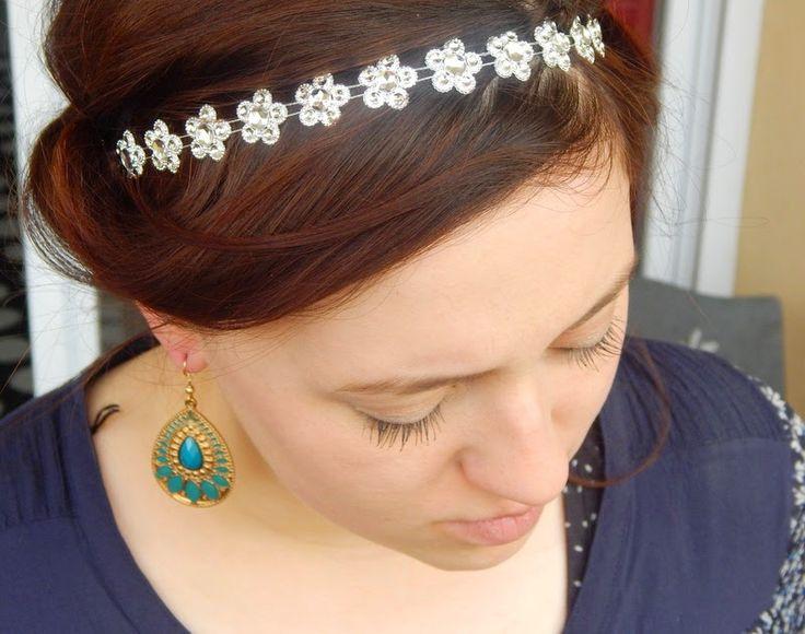 headband petit fleur argent