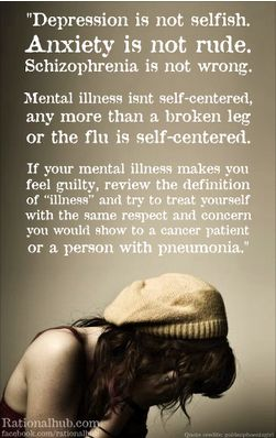 Depression is not selfish!!