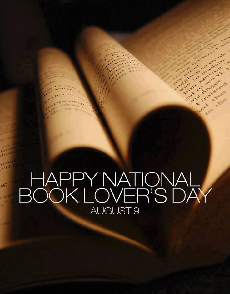 Happy National Book Lover's Day!! August 9