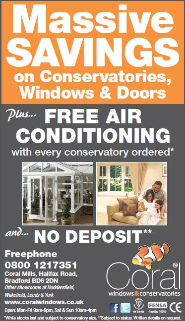 This month we're offering massive savings on #conservatories, #windows & #doors. Plus free #airconditioning with every conservatory ordered (conditions apply). #doubleglazing