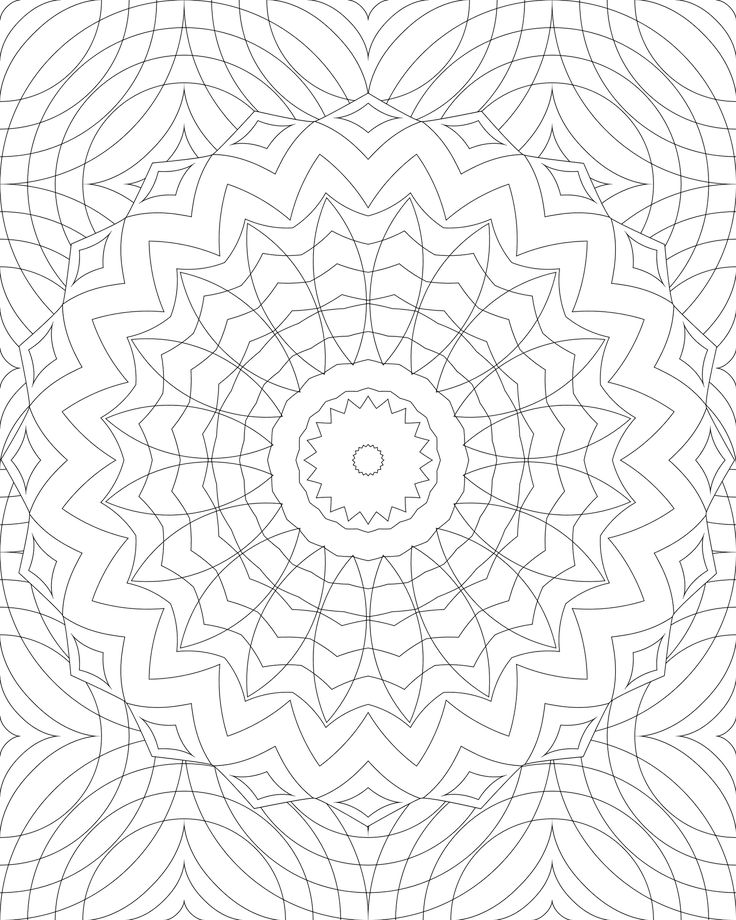 Another Swirly Mandala To Print And Color Pattern Coloring PagesMandala PagesAdult