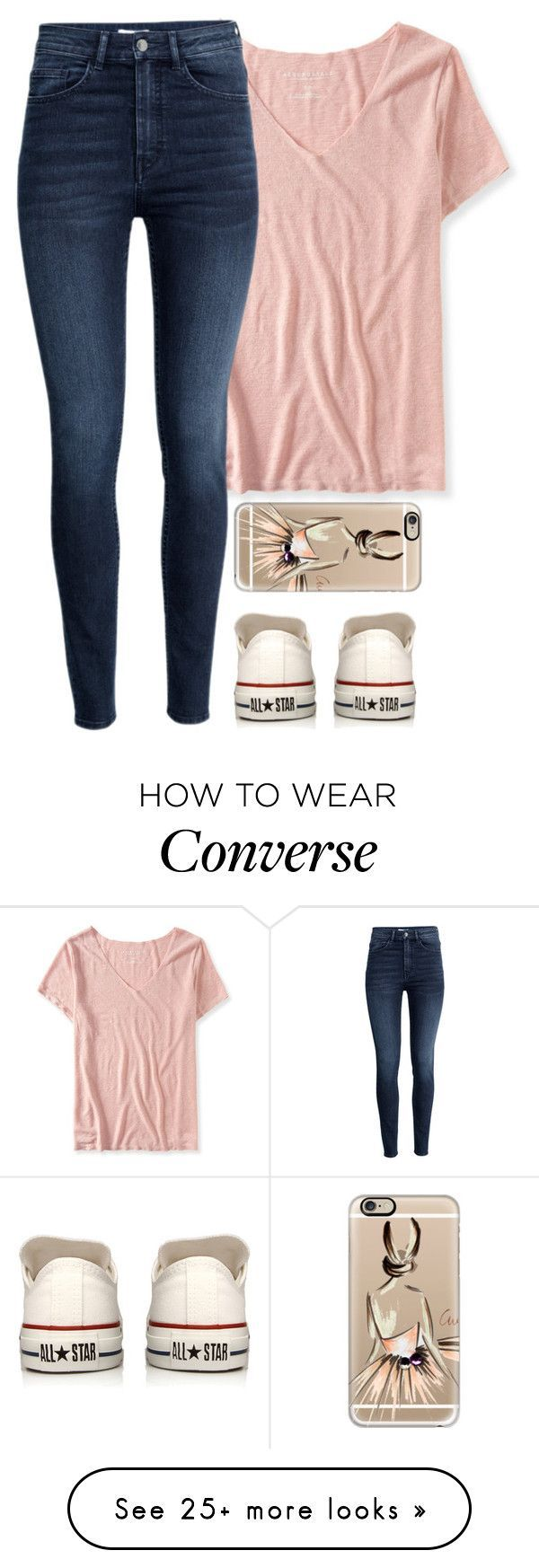 """My gym teacher wants me to do track and field in the spring!"" by meljordrum on Polyvore featuring Aéropostale, H&M, Converse and Casetify"