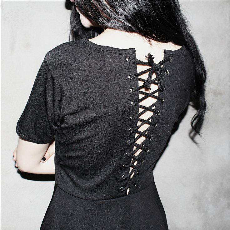 Летняя одежда для женщин панк стиль рокабилли ситцевое платье дамы с коротким рукавом высокая талия крест мини платья Nora151540купить в магазине Stylish HarajukuнаAliExpress