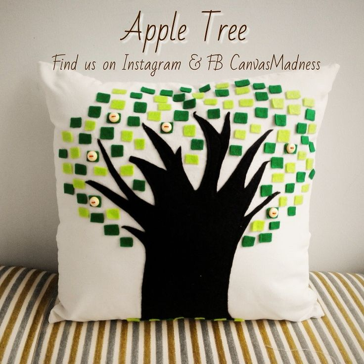 Apple Tree  Handmade and custom made. Size 40x40. Price IDR 120,000 (with insert)