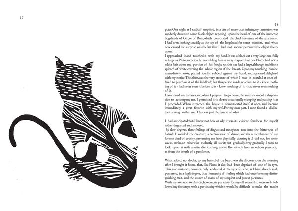 Illustration   The black cat   by Meral Jusufi