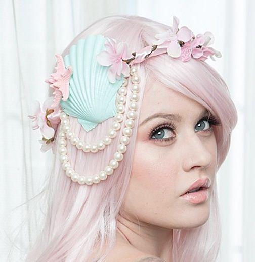 Mint Mermaid Crown  I want.