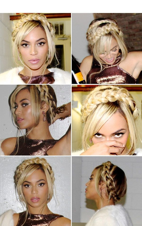 Beyonce' s halo braid