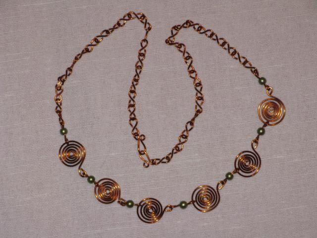 náhrdelník - spirála 2